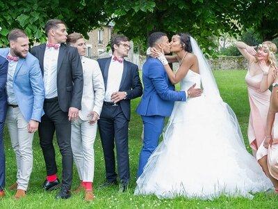 Madina et Alister : un mariage chic aux touches rouge passion dans les Yvelines