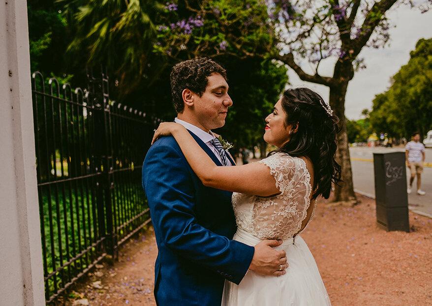 """Diana y Mauro: la boda """"Do It Yourself"""" de una peruana en Argentina!"""