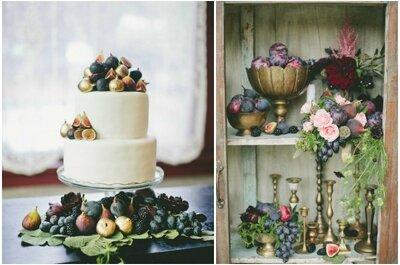 Frutas para tu boda: ¡postres, regalos y decoración!