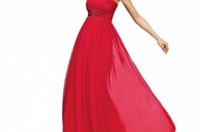 Selección de vestidos rojos de Pronovias Fiesta 2013