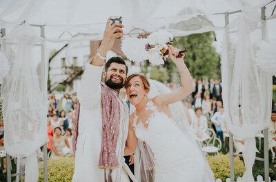 Ślub polsko - hinduski w Karkonoszach. Fuzja kolorów i miłości!