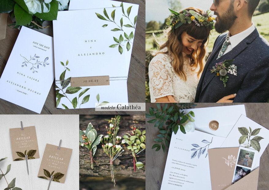 Cotton Bird: diseños poéticos y originales para crear la mejor papelería para la boda