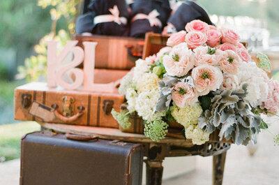 Las maletas más originales para decorar tu boda vintage: Ideas sensacionales para darle vida a tu día