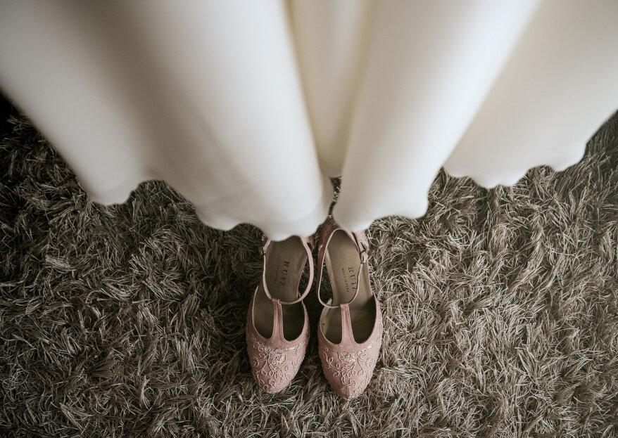 ¿Cómo elegir los zapatos según el estilo de tu vestido de novia y de la boda?