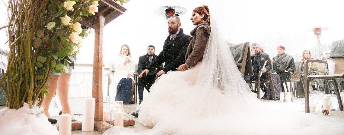 Élisa et Virgil : un mariage sous la neige de Courchevel en Savoie