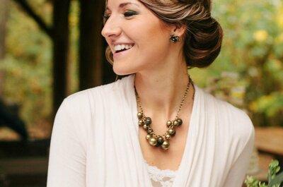 16 de los más lindos recogidos medios para novia: Lo más hermoso para estilizar tu cuello