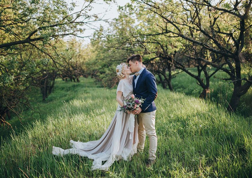 Um casamento romântico no campo: tudo o que procura está aqui!