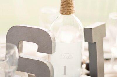 Des lettres en bois comme décoration de mariage