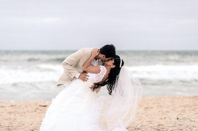 Casamento Márcia e Lucas: amor e emoção de frente para o mar em Grumari