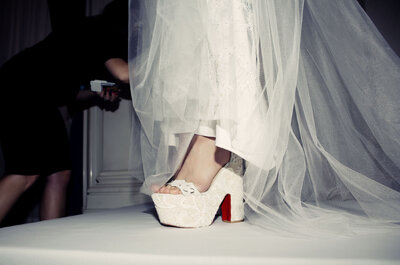 Christian Louboutin viste a las novias de Marchesa, Jenny Packham y Naeem Khan para Bridal Fashion Week