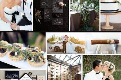 Black and Glam: Intensidad y glamour en tu boda... Dos colores perfectos para reflejar tu buen gusto