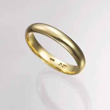 """Sencilla y tradicional alianza de oro amarillo. Foto: <a title=""""Germán Joyero"""" href=""""http://germanjoyero.com/"""" target=""""_blank"""">Germanjoyero.com</a>"""