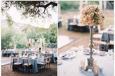 Centros de mesa florales para tu banquete de matrimonio