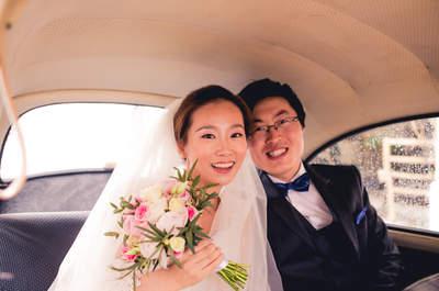 Han et William : un mariage au cœur des vignobles du Beaujolais et des cadeaux pour invités 100% handmade