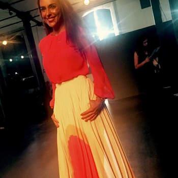 Catarina Furtado vestida por Nuno Baltazar   Foto via Instagram @catarinafurtadooficial