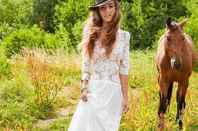 Robes de mariée avec transparences : Misez sur l'effet tatouage pour votre mariage en 2016