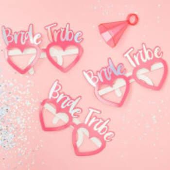 Lunettes Cœurs Bride Tribe 8 Pièces - The Wedding Shop !