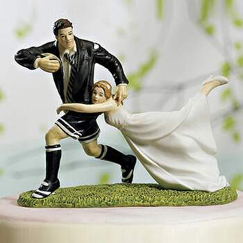 Cake Topper Conjoints Rugby - The Wedding Shop !