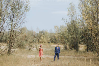 Sesja ślubna, plaża, Wilanów, wianek i oni...to wystarczy, aby stworzyć niezwykłe zdjęcia!