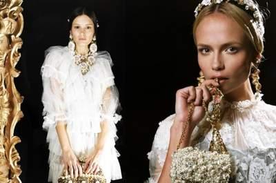 Dolce & Gabbana : des bijoux de mariée style baroque et vintage