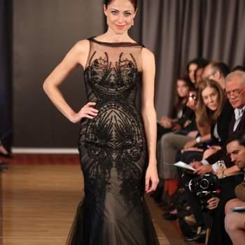 Vestido de noiva preto, da colecção Ines di Santo Primavera 2013.