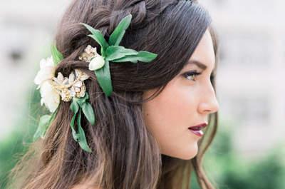 Peinados de novia con trenzas. ¡La tendencia más romántica para el pelo!