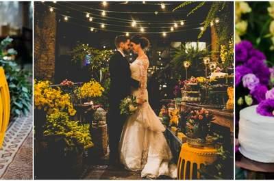 Casamento grego de Katherine e Gabriel: rústico, com detalhes vintage e multicolorido!