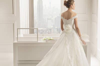 Les décolletés en V les plus variés pour des mariées stylées
