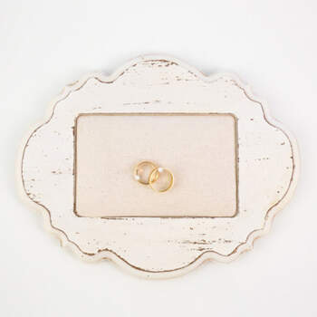 Porta anillos marco de madera- Compra en The Wedding Shop