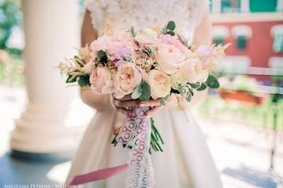 Свадебные букеты с пионами 2017. Влюбитесь с первого взгляда!