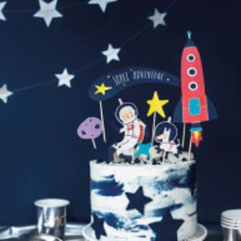 Cake Topper Aventures Dans L'espace De 7 Pièces - The Wedding Shop !
