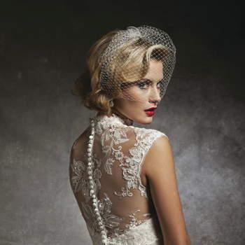 Vestido de noiva Justin Alexander 2013: todo rendado.