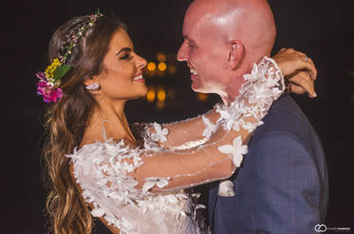 Casamento boho chic de Ana Flavia & Marcio: cerimônia íntima emocionante em Angra!