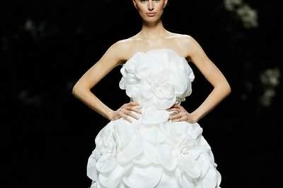 Robes de mariée d'inspiration florale 2013