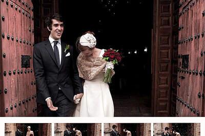 Marta se casó con un Isaac en un vestido de novia de Rita