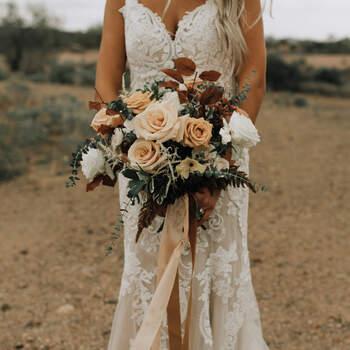 São magníficos, os ramo de noiva com rosas| | Créditos: The Petal Theory