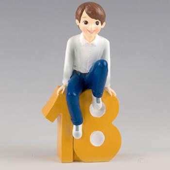 Figura para tarta 18° cumpleaños chico- Compra en The Wedding Shop