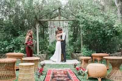 No te vas a creer lo bonita que queda tu boda con macramé, ¡estilo boho al poder!