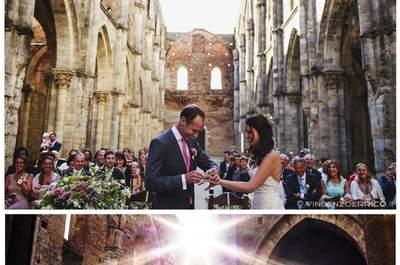 Ilaria e Goffrey, un matrimonio en plein air