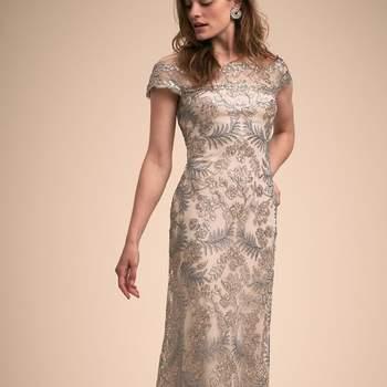 Tadashi Shoji Tamar Dress in Light Pearl