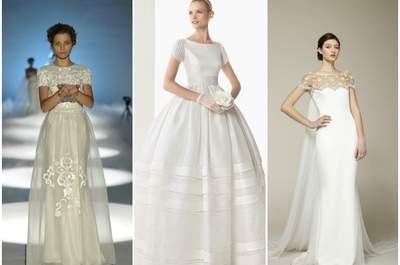 Epaules à l'honneur grâce aux robes de mariée 2013 à manches courtes