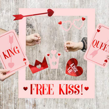 Photobooth kiss love- Compra en The Wedding Shop