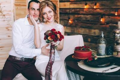 Яркая свадьба Кристины и Виталия в бордово-золотистых тонах