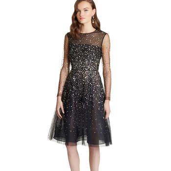 Paillete & sequin embroidered illusion-tulle dress. Credits- Oscar de la Renta