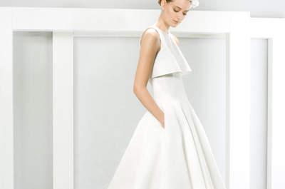 Vestidos de novia con bolsas, la tendencia favorita de las chicas sin complicaciones