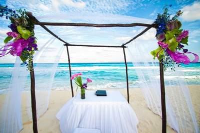 6 Ideas en decoración para una ceremonia de boda en la playa