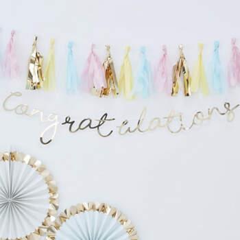 """Guirlanda """"Congratulation""""- Compra en The Wedding Shop"""