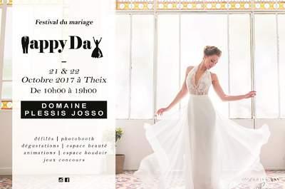 Rendez-vous au Happy Day, le festival de mariage du Morbihan les 21 et 22 octobre !