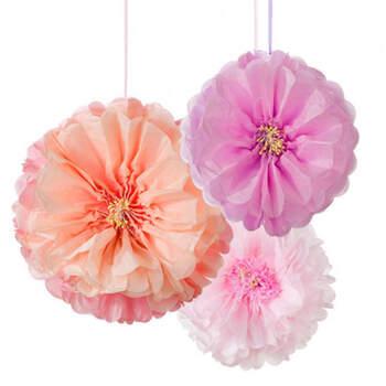 Peonías decorativas en papel 3 unidades- Compra en The Wedding Shop