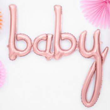 Ballon Baby Rose Gold - The Wedding Shop !